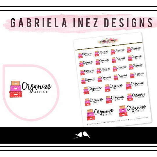 Organize Office Planner Stickers by Gabriela Inez Designs