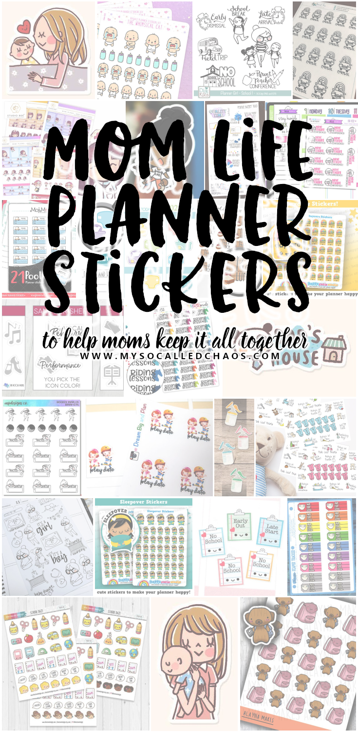 Are you a busy mom that has a hard time keeping track of everything? These planner stickers will help you keep track of all the things you need to regarding your kids.